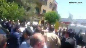 فیلم شعار علیه روحانی در راهپیمایی روز قدس 2 خرداد 96