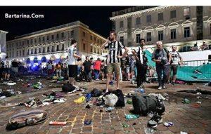 فیلم انفجار در تورین ایتالیا بعد از بازی یوونتوس و رئال