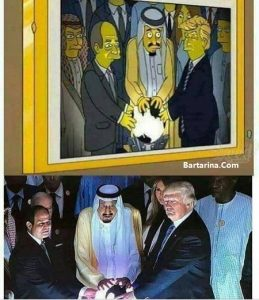 ماجرای پیش بینی کارتون انیمیشن سیمپسون اتحاد ترامپ و عربستان