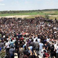 فیلم مراسم تشییع خاکسپاری آتنا اصلانی در پارس آباد ۲۱ تیر ۹۶