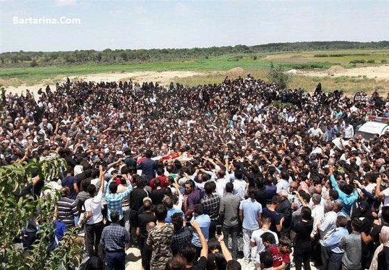 فیلم مراسم تشییع خاکسپاری آتنا اصلانی در پارس آباد 21 تیر 96