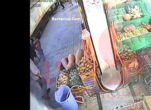 فیلم دزدی اسماعیل رنگرز قاتل آتنا اصلانی از مغازه میوه فروشی