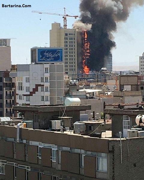 فیلم آتش سوزی هتل 20 طبقه خیابان امام رضا مشهد 31 تیر 96