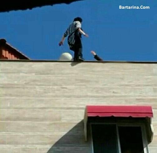 فیلم خودکشی دختر 18 ساله بابل مازندران از بالای ساختمان