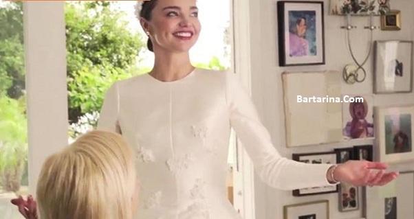 فیلم عروسی دوم میراندا کر مدل با ایوان اشپیگل + عکس لباس