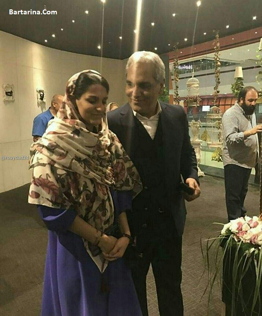 عکس مهران مدیری و دخترش شهرزاد در اکران فیلم ساعت 5 عصر