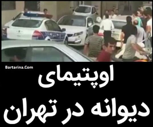 فیلم فرار راننده دیوانه ماشین اپتیما از دست پلیس جنوب تهران