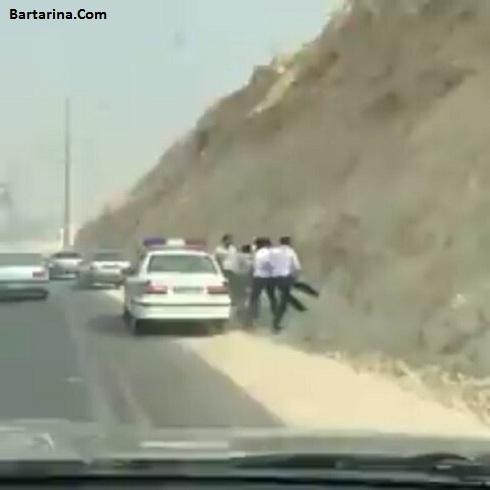 فیلم برخورد خشن پلیس راهور عسلویه با راننده متخلف + عکس
