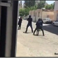فیلم دزدی مسلحانه در خیابان باهنر جنوبی اهواز سرقت ۱۷ تیر ۹۶