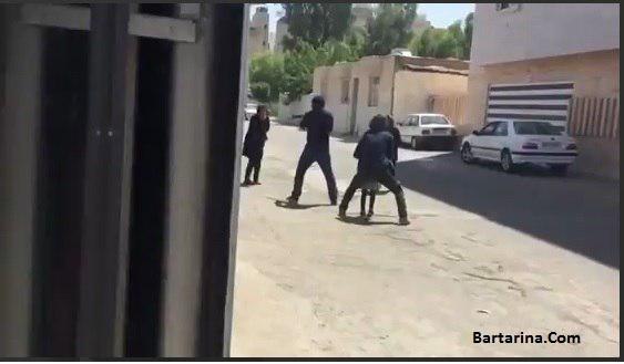 فیلم دزدی مسلحانه در خیابان باهنر جنوبی اهواز سرقت 17 تیر 96