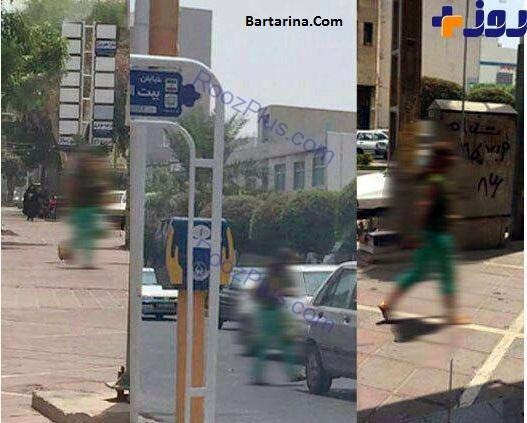 عکس زن بی حجاب خیابان بوشهر + فیلم دختر بی حجاب بوشهر