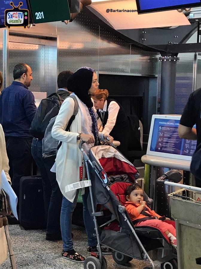 فیلم لو رفته آزاده نامداری در فرودگاه میلان ایتالیا + عکس