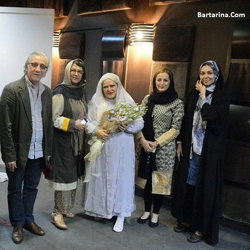 عکس آزاده نامداری در مراسم عروسی بهاره رهنما با چادر