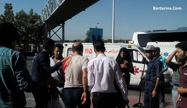 فیلم چاقوکشی با سلاح سرد در ترمینال جنوب تهران 7 شهریور 96