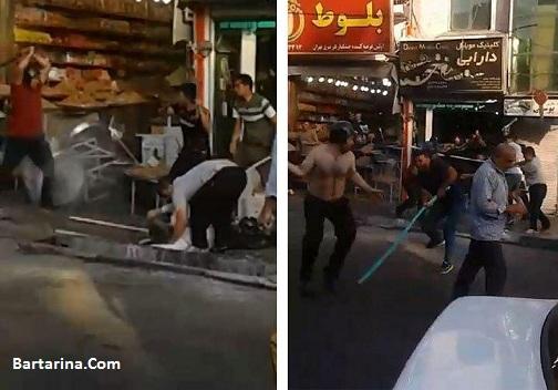 فیلم دعوا و درگیری در محله خاک سفید تهرانپارس 17 مرداد 96