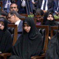 عکس دختر حسن روحانی در مراسم تحلیف پدرش ۱۴ مرداد ۹۶