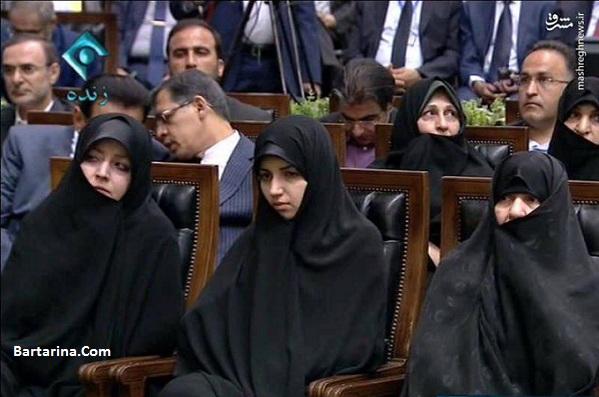 عکس دختر حسن روحانی در مراسم تحلیف پدرش 14 مرداد 96