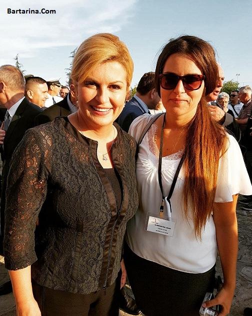عکس های جنجالی لخت کالیندا کیتاروویچ رئیس جمهور کرواسی