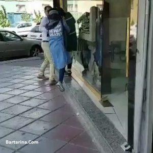 فیلم درگیری و کتک زن با دوست دختر شوهرش در خیابان تهران