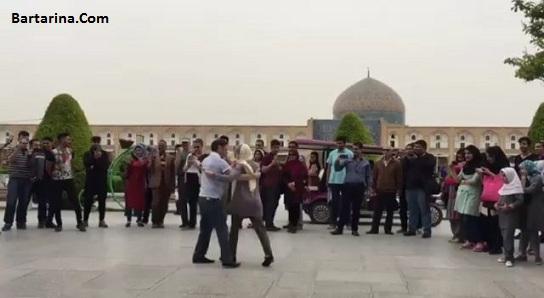 فیلم رقص زن و مرد توریست گردشگر فرانسوی در نقش جهان اصفهان