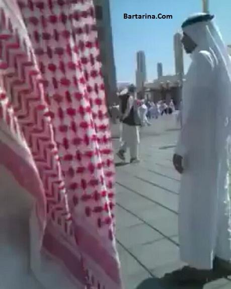 فیلم شلاق زدن یک ایرانی در عربستان بخاطر بوسیدن مسجد النبی