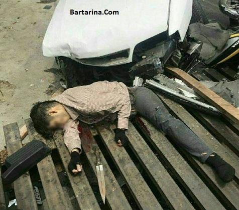 فیلم 18+ تصادف پسر زورگیر با زانتیا در خیابان مفتح تهران