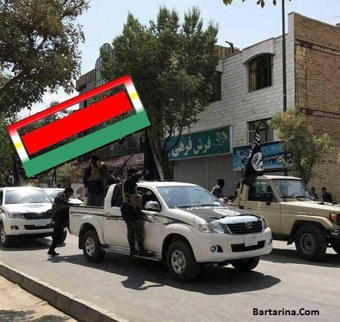 فیلم ماشین پلاک عراقی با پرچم داعش در شهرکرد ایران