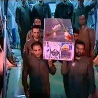 فیلم ورود پیکر شهید محسن حججی به تهران ایران ۳ مهر ۹۶