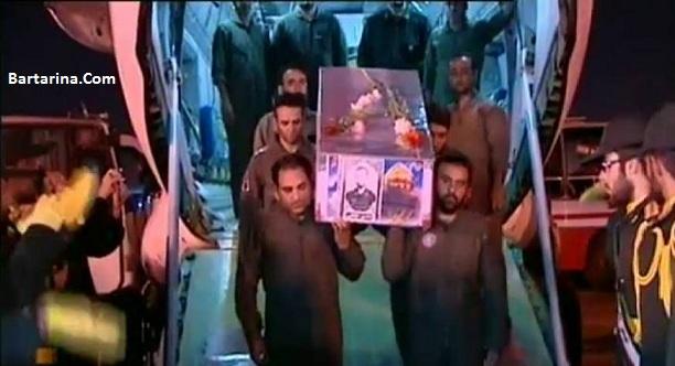 فیلم ورود پیکر شهید محسن حججی به تهران ایران 3 مهر 96