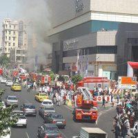 فیلم آتش سوزی پاساژ کوروش تهران ۲۸ شهریور ۹۶ + آتش گرفتن