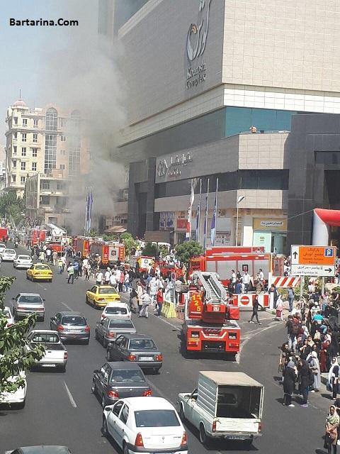فیلم آتش سوزی پاساژ کوروش تهران 28 شهریور 96 + آتش گرفتن