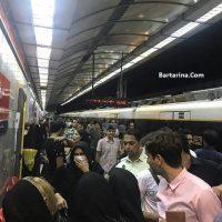 فیلم خودکشی دختر ایستگاه مترو دروازه دولت تهران ۳۰ شهریور ۹۶