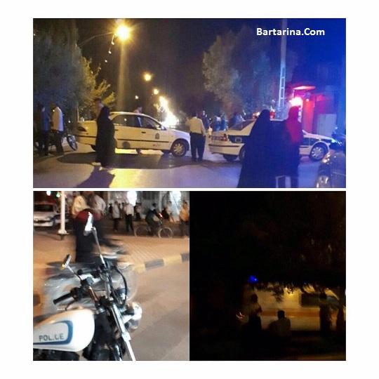 فیلم بمب گذاری خیابان نجف آباد اصفهان نزدیک خانه شهید حججی