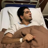 بستری شدن سینا شعبانخانی خواننده در بیمارستان ۱۳ شهریور ۹۶