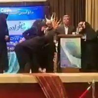 فیلم حمله هاجر چنارانی نماینده نیشابور به معاون استاندار خراسان