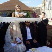 جشن ازدواج در مناطق زلزله زده