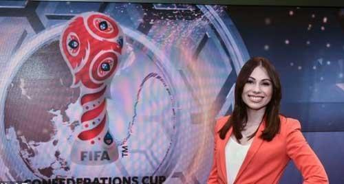 جنجال آفرینی پوشش مجری زن مراسم قرعه کشی جام جهانی