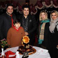 حضور نیوشا ضیغمی در جشن تولد خواننده معروف