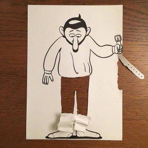 تصاویر سه بعدی با برش کاغذ