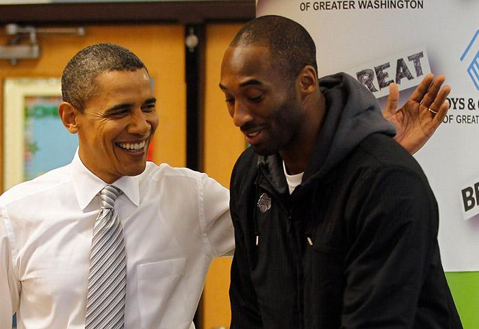 کوبه برایانت و باراک اوباما